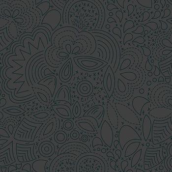 Sun Print 2020 Stitched Night Floral Charcoal Grey Geometric Alison Glass Cotton Fabric