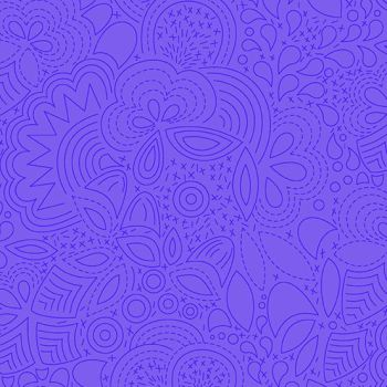 Sun Print 2020 Stitched Liberty Blue Floral Geometric Alison Glass Cotton Fabric
