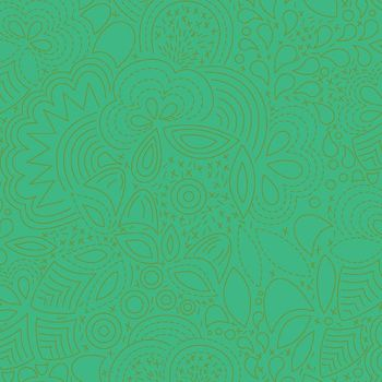 Sun Print 2020 Stitched Grasshopper Green Floral Geometric Alison Glass Cotton Fabric