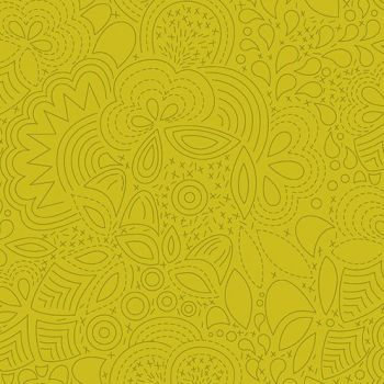 Sun Print 2020 Stitched Chartreuse Floral Geometric Alison Glass Cotton Fabric
