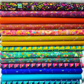 Alison Glass Handiwork Collection 15 Fat Quarter Bundle Cotton Fabric Cloth Stack