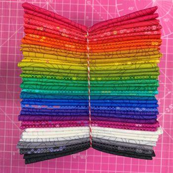 Alison Glass Sun Print 2020 Full Collection 27 Fat Quarter Bundle Cotton Fabric Cloth Stack