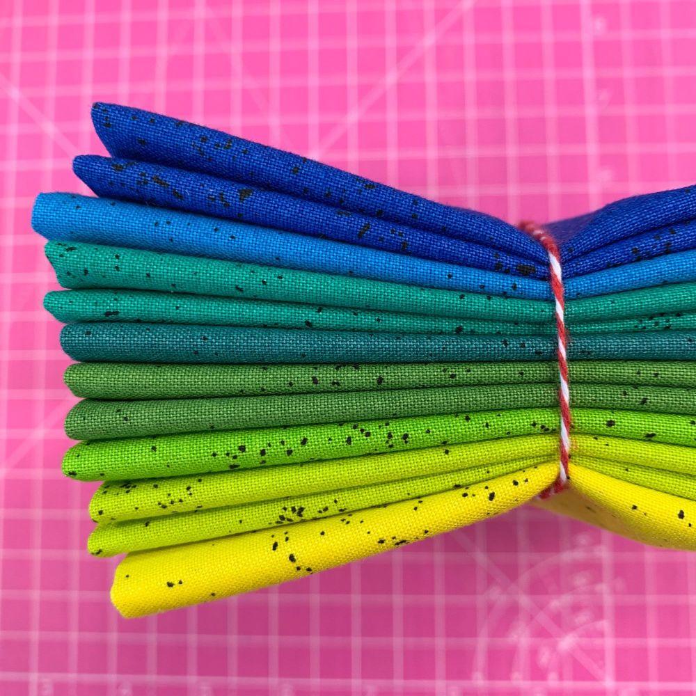 Giucy Giuce Spectrastatic Cool 8 Fat Quarter Bundle Cotton Fabric Cloth Sta