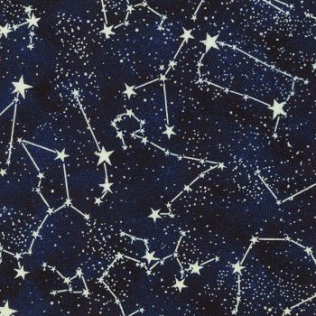 REMNANT 15cm Stars Space Constellation Glow in the Dark Constellations Star GID Cotton Fabric
