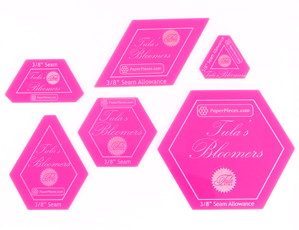 IN STOCK Tula Pink Tula's Bloomers 6 Piece Acrylic Fabric Cutting Templates