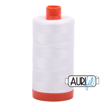 Aurifil 50wt Cotton Thread Large Spool 1300m 2021 Natural White