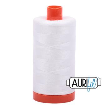 Aurifil 50wt Cotton Thread Large Spool 1300m 2021 Natural White