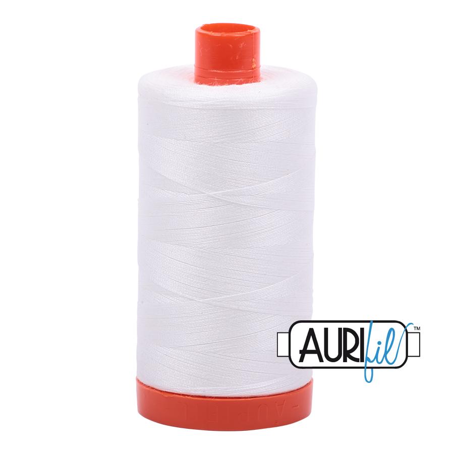 Aurifil 80wt Cotton Thread Large Spool 1300m 2021 Natural White