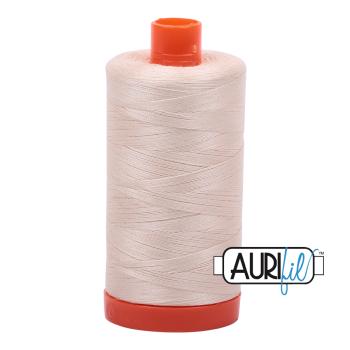 Aurifil 50wt Cotton Thread Large Spool 1300m 2000 Light Sand