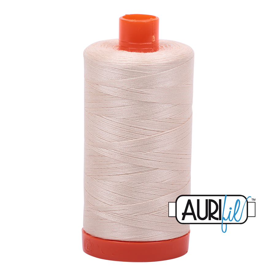 Aurifil 80wt Cotton Thread Large Spool 1300m 2000 Light Sand