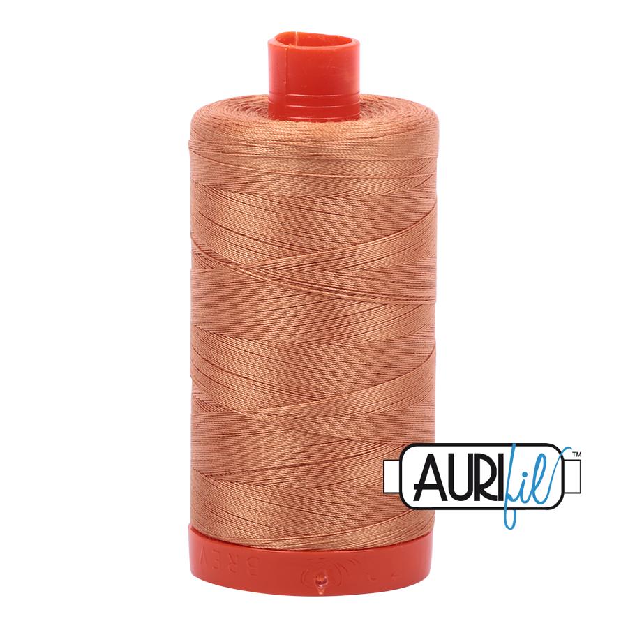 Aurifil 80wt Cotton Thread Large Spool 1300m 2210 Caramel