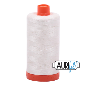 Aurifil 50wt Cotton Thread Large Spool 1300m 2026 Chalk