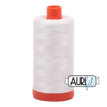 Aurifil 50wt Cotton Thread Large Spool 1300m 2026 Chalk