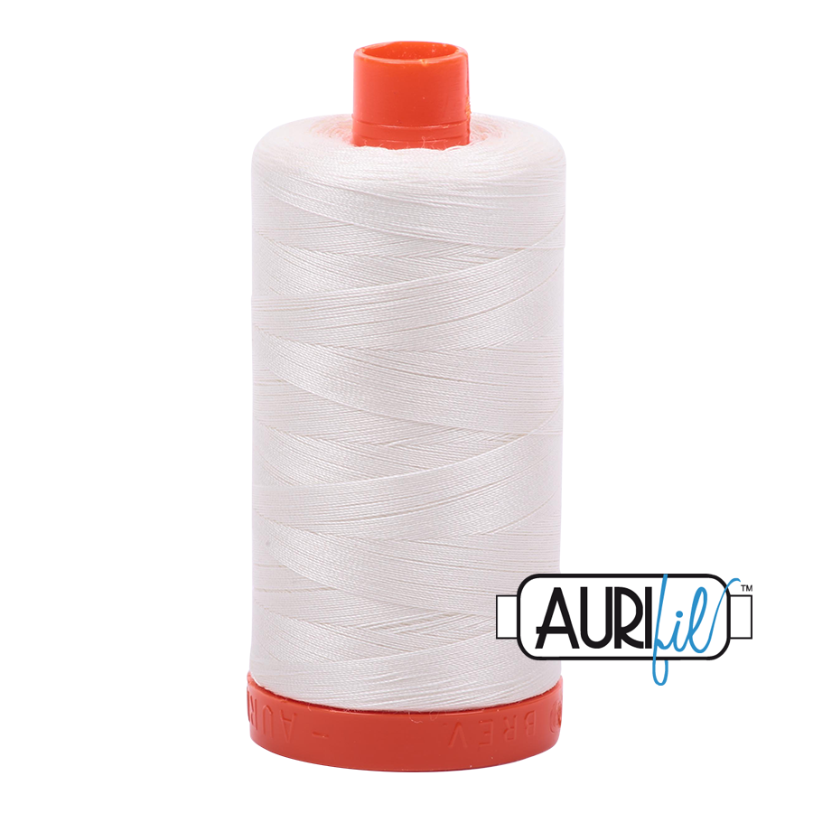 Aurifil 80wt Cotton Thread Large Spool 1300m 2026 Chalk