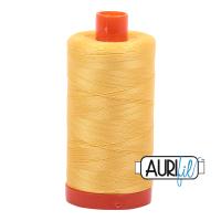 Aurifil 50wt Cotton Thread Large Spool 1300m 1135 Pale Yellow