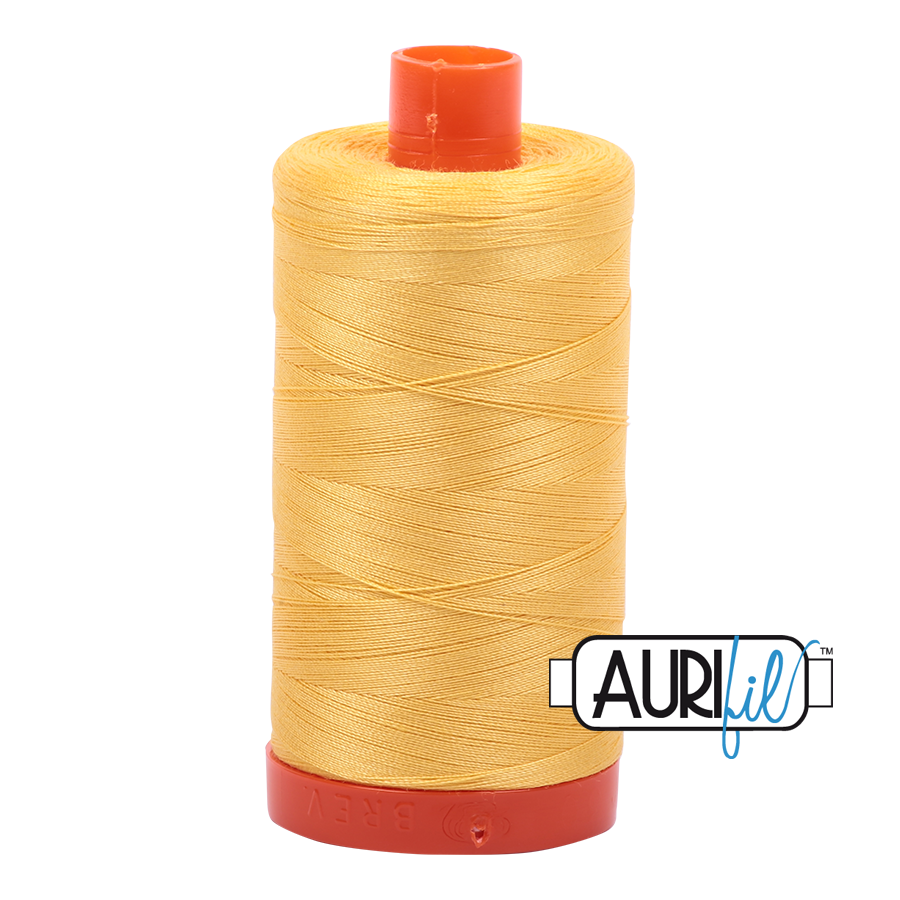 Aurifil 80wt Cotton Thread Large Spool 1300m 1135 Pale Yellow