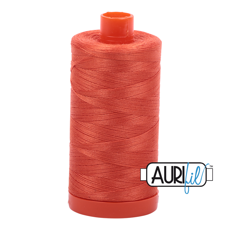 Aurifil 80wt Cotton Thread Large Spool 1300m 1154 Dusty Orange