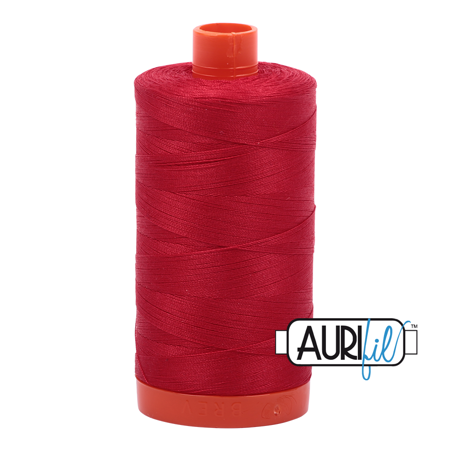 Aurifil 80wt Cotton Thread Large Spool 1300m 2250 Red