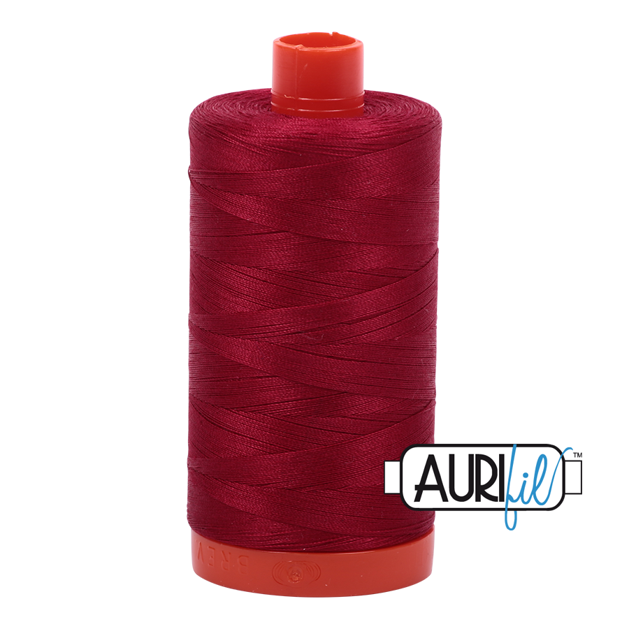 Aurifil 80wt Cotton Thread Large Spool 1300m 2260 Red Wine
