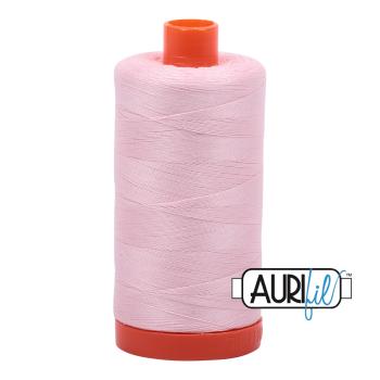 Aurifil 50wt Cotton Thread Large Spool 1300m 2410 Pale Pink