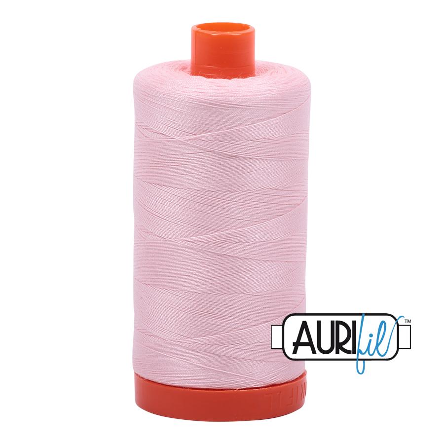 Aurifil 80wt Cotton Thread Large Spool 1300m 2410 Pale Pink