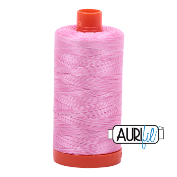 Aurifil 50wt Variegated Cotton Thread Large Spool 1300m 3660 Bubblegum