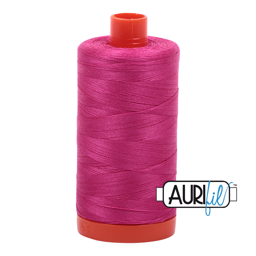 Aurifil 80wt Cotton Thread Large Spool 1300m 4020 Fuchsia