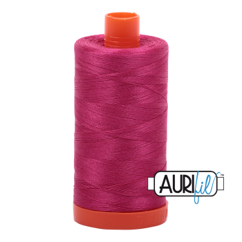 Aurifil 50wt Cotton Thread Large Spool 1300m 1100 Red Plum