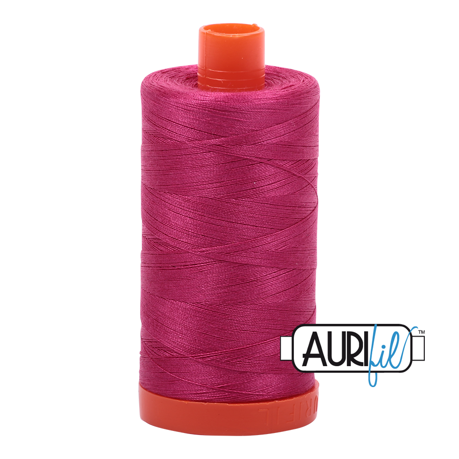 Aurifil 80wt Cotton Thread Large Spool 1300m 1100 Red Plum