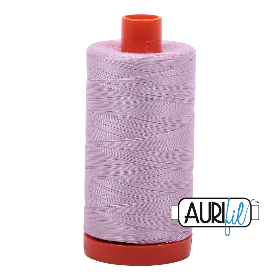 Aurifil 80wt Cotton Thread Large Spool 1300m 2510 Light Lilac
