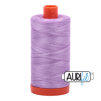 Aurifil 50wt Variegated Cotton Thread Large Spool 1300m 3840 French Lilac