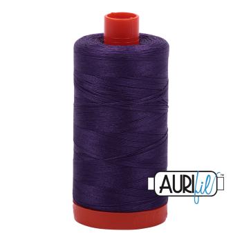 Aurifil 50wt Cotton Thread Large Spool 1300m 2582 Dark Violet