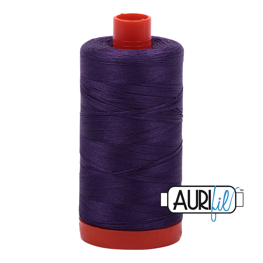 Aurifil 80wt Cotton Thread Large Spool 1300m 2582 Dark Violet