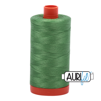 Aurifil 50wt Cotton Thread Large Spool 1300m 2884 Green Yellow