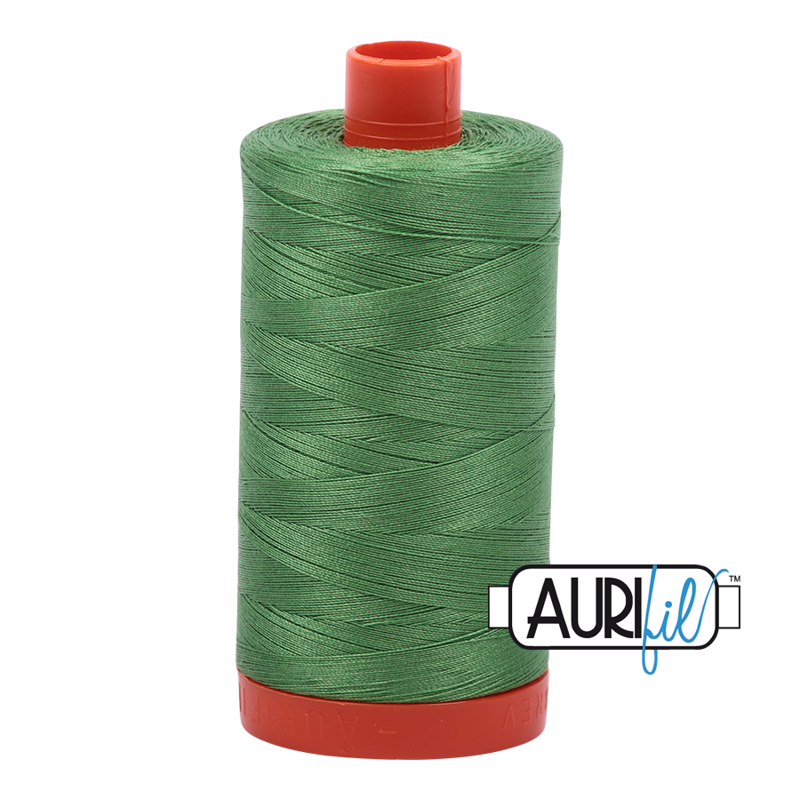 Aurifil 80wt Cotton Thread Large Spool 1300m 2884 Green Yellow