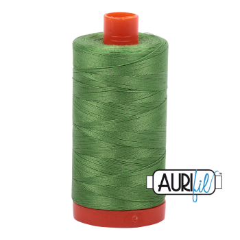 Aurifil 50wt Cotton Thread Large Spool 1300m 1114 Grass Green