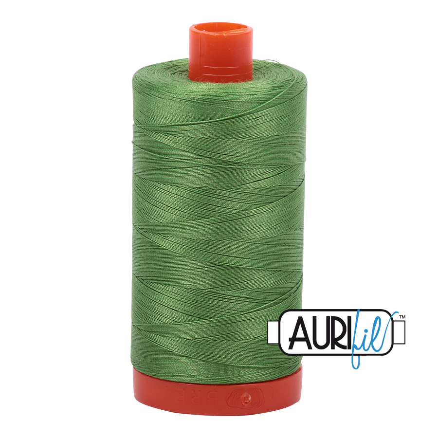 Aurifil 80wt Cotton Thread Large Spool 1300m 1114 Grass Green