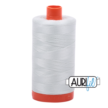 Aurifil 50wt Cotton Thread Large Spool 1300m 2800 Mint Ice