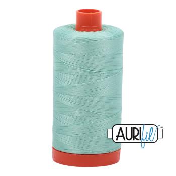 Aurifil 50wt Cotton Thread Large Spool 1300m 2835 Medium Mint