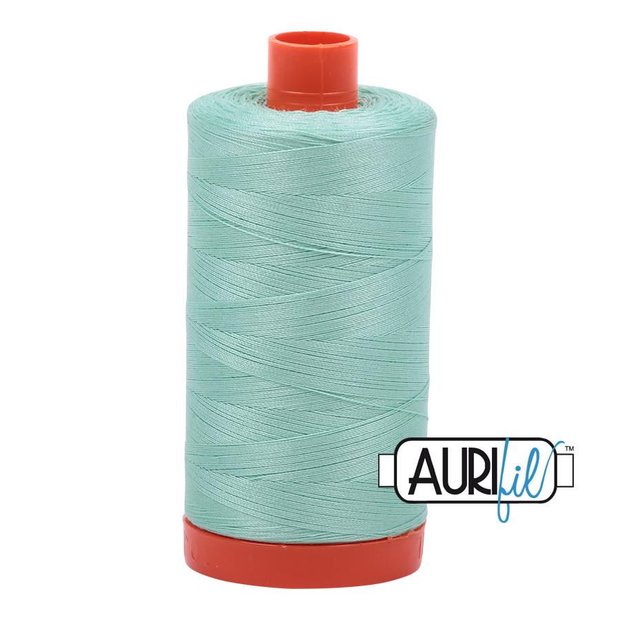 Aurifil 80wt Cotton Thread Large Spool 1300m 2835 Medium Mint