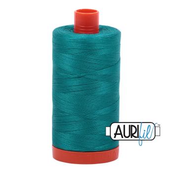 Aurifil 50wt Cotton Thread Large Spool 1300m 4093 Jade