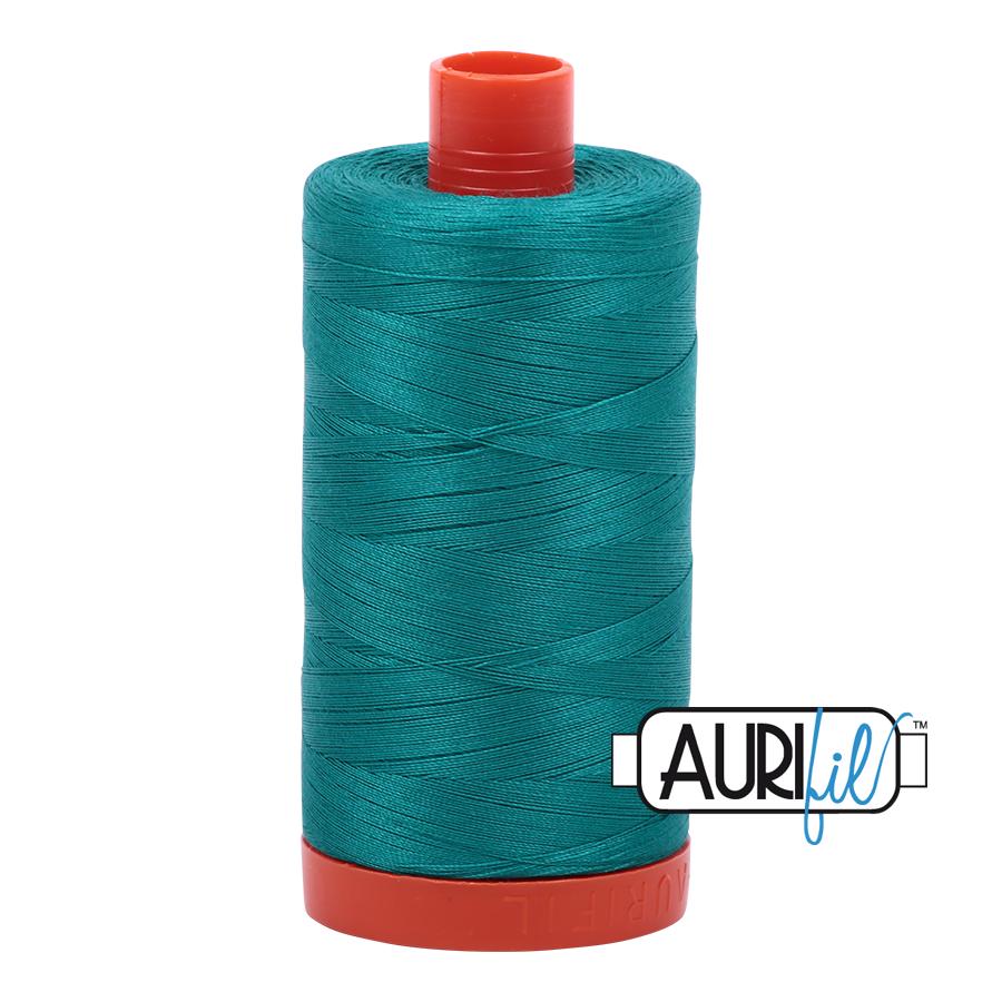 Aurifil 80wt Cotton Thread Large Spool 1300m 4093 Jade