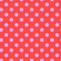 Tula Pink True Colors Pom Poms Poppy Spot Polkadot Geometric Blender Cotton Fabric