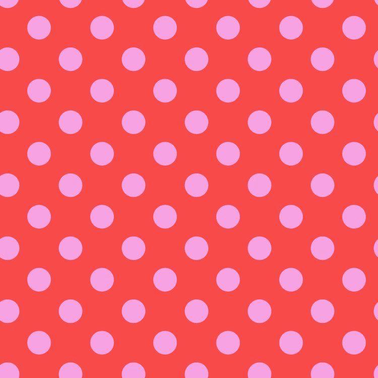 Tula Pink All Stars Pom Poms Poppy Spot Polkadot Geometric Blender Cotton F
