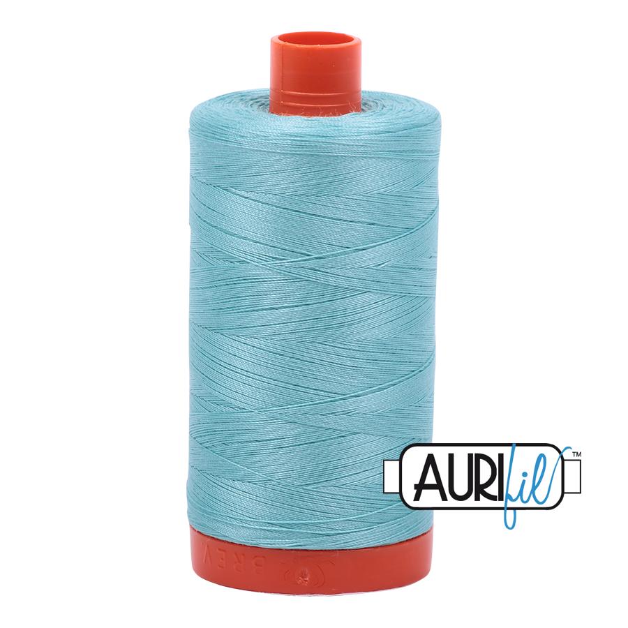 Aurifil 80wt Cotton Thread Large Spool 1300m 5006 Light Turquoise
