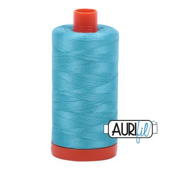 Aurifil 50wt Cotton Thread Large Spool 1300m 5005 Bright Turquoise