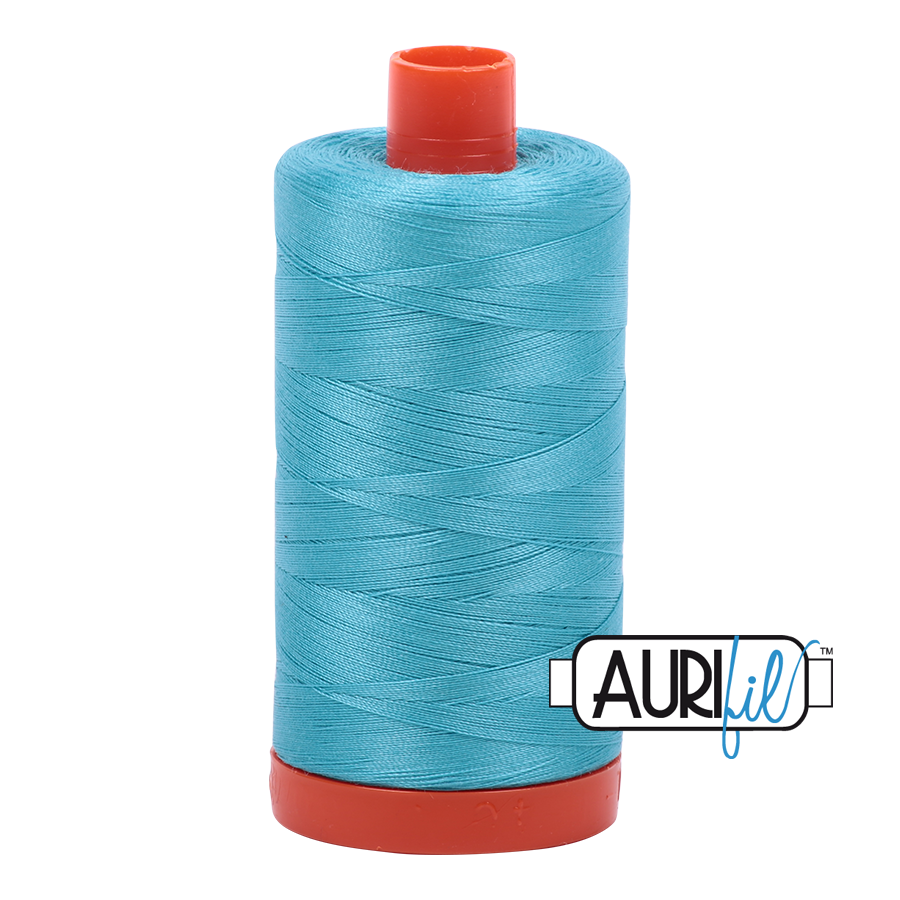 Aurifil 80wt Cotton Thread Large Spool 1300m 5005 Bright Turquoise