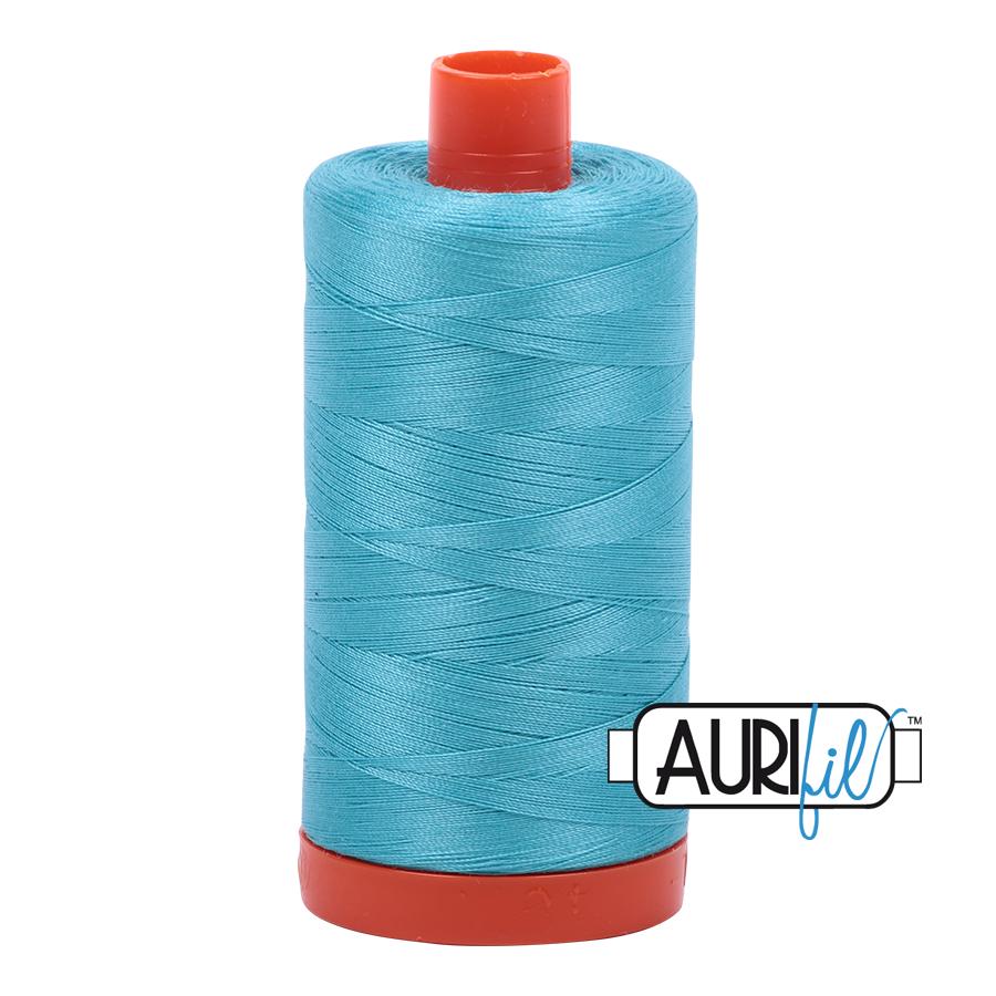 Aurifil 80wt Cotton Thread Large Spool 1300m 5005 Bright Turquoise