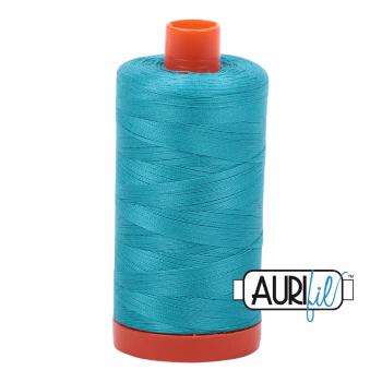 Aurifil 50wt Cotton Thread Large Spool 1300m 2810 Turquoise