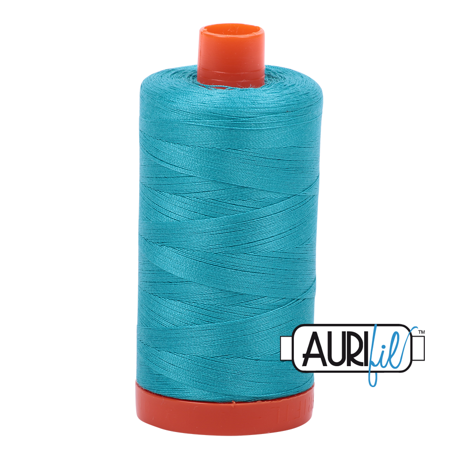 Aurifil 80wt Cotton Thread Large Spool 1300m 2810 Turquoise
